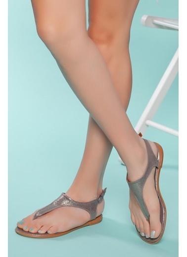 Muggo Sandalet Gümüş